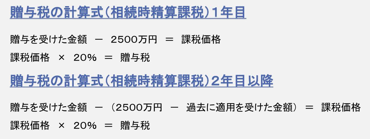 税理士事務所レクサー、名古屋、相続税申告、相続時精算課税、贈与税、計算式、計算方法